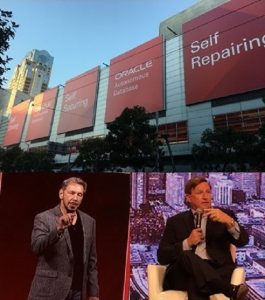 Scenes from Oracle Open World with CTO Larry Ellison(left) and CEO Mark Hurd